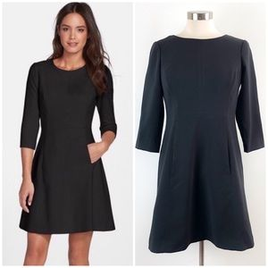 Vince Camuto | Crepe A-Line Little Black Dress